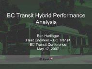 BC Transit Hybrid Evaluation Programme