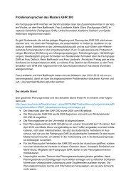 Problemansprachen des Masters GHR 300 - Leuphana Universität ...