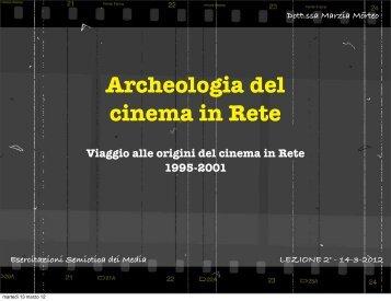 Archeologia del cinema in Rete
