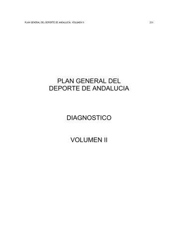 plan general del deporte de andalucia diagnostico volumen ii