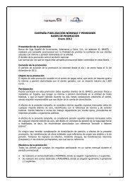 bases de esta promoción - Caja España-Duero