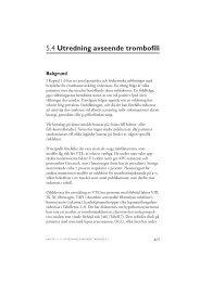 5.4 Utredning avseende trombofili - SBU