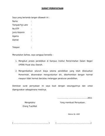 Surat Pernyataan.pdf - Pemerintah Kabupaten Samosir
