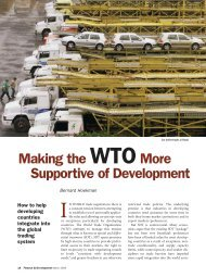 Making the WTO More Supportive of Development ... - ECIPE