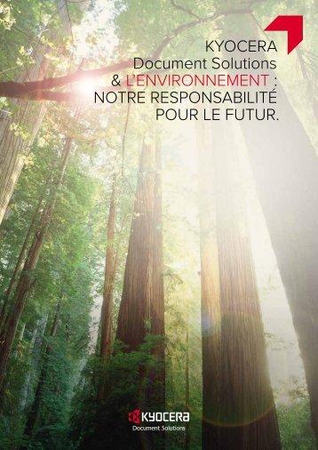Brochure Environnement - Kyocera