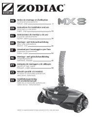Robot nettoyeur hydraulique MX 8 - Zodiac Poolcare