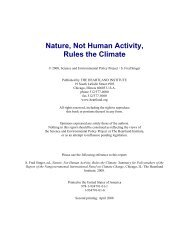 Nature, Not Human Activity, Rules the Climate - Science ...
