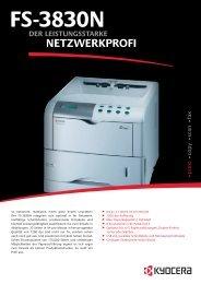 Spezifikationen FS-3830N - 1a-gebrauchte-Drucker.de