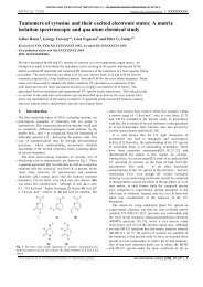 Tautomers of cytosine and their excited electronic states: A matrix ...