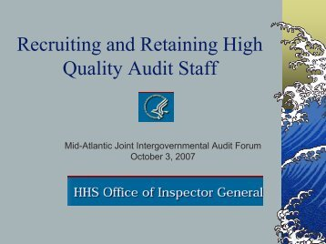 Recruiting and Retaining High Quality Audit Staff ...