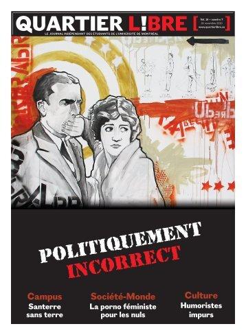 Numéro 7 Politiquement incorrect - Quartier Libre