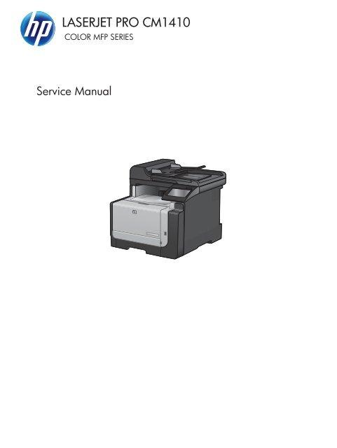 Hp Laserjet Pro Cm1410 Color Mfp Series Service Manual Enww