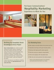 Hospitality Marketing - Eason Communications