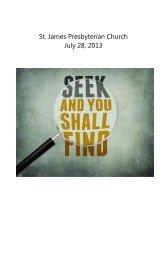 St. James Presbyterian Church July 28, 2013 - Saint James ...