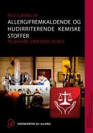 Regulering af allergifremkaldende og hudirriterende kemiske stoffer ...