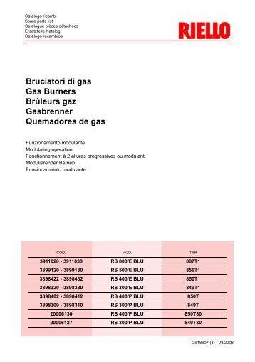 Bruciatori di gas Gas Burners Brûleurs gaz Gasbrenner ...