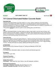 737 Colored Chlorinated Rubber Concrete Sealer - Brock White