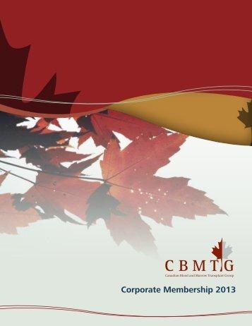 Corporate Membership 2013 - CBMTG
