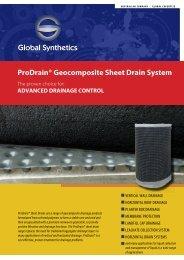 ProDrain® CD12 & CD 18 Drainage Datasheet - Global Synthetics