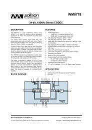 WM8778, Rev 4.2 - Wolfson Microelectronics plc