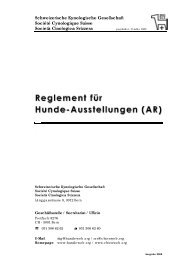 Ausstellungsregelement SKG - csbp.ch