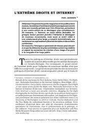 L'EXTRÊME DROITE ET INTERNET - Recherches internationales