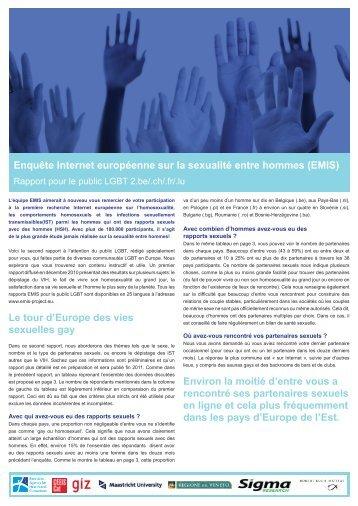Enquête Internet européenne sur la sexualité entre hommes - EMIS