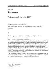 StG, Änderung vom 07.11.2011 - Steuern Luzern