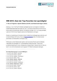 WM 2010: Zwei der Top-Favoriten bei sportdigital