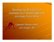Beating the Breath Test Increase your Knowledge and ... - NACDL