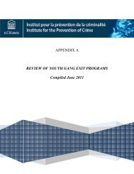 APPENDIX A REVIEW OF YOUTH GANG EXIT PROGRAMS ...