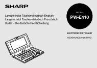 PW-E410 Operation-Manual GB DE - Sharp Electronics Europe GmbH