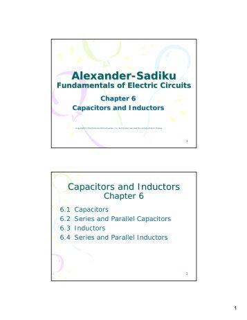 Alexander-Sadiku Fundamentals of Electric Circuits Chapter 6 ...