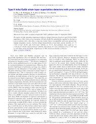 Type II InAs/GaSb strain layer superlattice detectors with p-on-n ...
