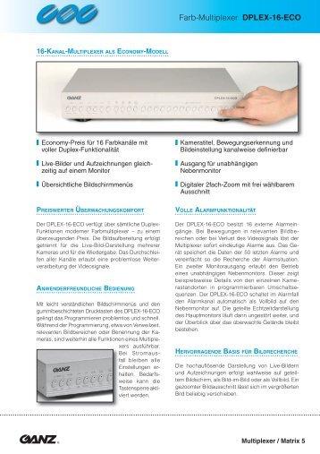 Farb-Multiplexer DPLEX-16-ECO - IP CCTV GmbH