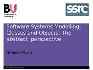 Recap of OO Modelling and class diagrams - School of Design ...