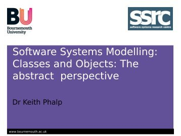 Recap of OO Modelling and class diagrams - School of Design ...