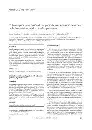 Criterios para la inclusión de un paciente con síndrome demencial ...