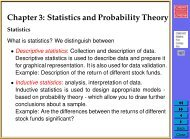 Chapter 3: Statistics and Probability - Cardiff School of Computer ...