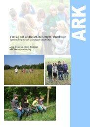Verslag Educatie Kempen~Broek 2012 - ARK Natuurontwikkeling