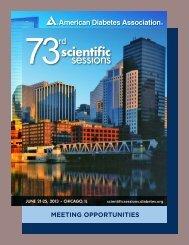Meeting Opportunities Booklet - American Diabetes Association