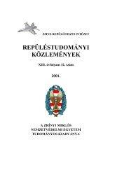 Repüléstudományi Közlemények 2001. 1. szám (pdf, 4,9 MiB ...