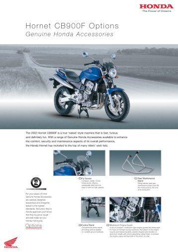 Hornet CB900F Options - Doble Motorcycles