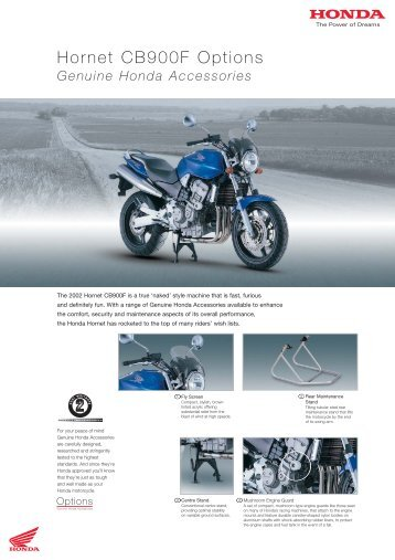 Hornet CB900F Options - Doble Motorcycles