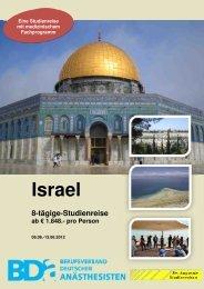 BDA Israel - Eine Studienreise mit medizinischem Fachprogramm