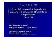 Disturbi di personalitа, impulsivitа e carcere: il cinema ... - Cedostar