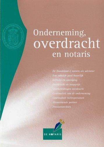 Onderneming, overdracht en notaris