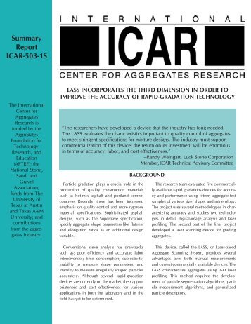 503-1s - International Center for Aggregates Research - The ...