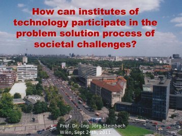 How can institutes of technology participate in the problem solution ...