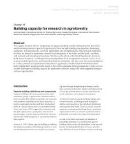 Building capacity for research in agroforestry - World Agroforestry ...
